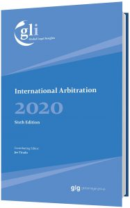 Book Cover GLI International Arbitration 2020