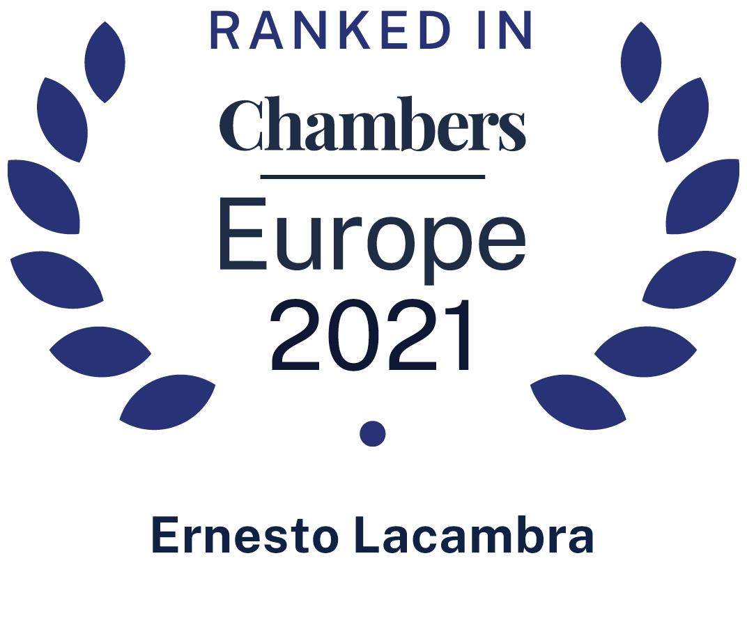 Chambers Europe Ernesto Lacambra  2021